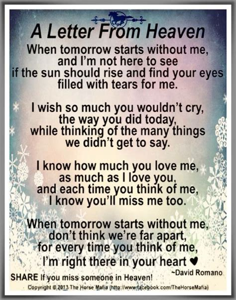 prayer of comfort for the bereaved 17 best ideas about letter from heaven on pinterest