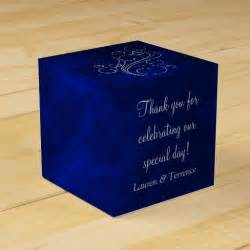Blue Wedding Favor Boxes by Blue Silver Wedding Wedding Favor Box Zazzle