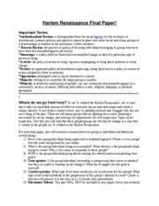 Harlem Renaissance Essay by Outline For Harlem Renaissance Research American Literature 11 Name Outline For Harlem