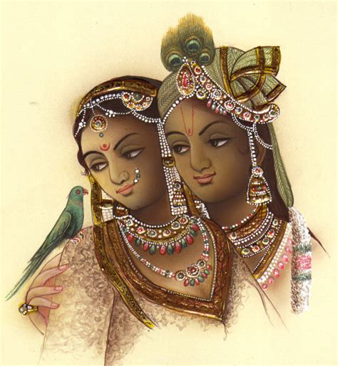 Handmade Paintings Of Radha Krishna - radha krishna painting handmade hindu religious god