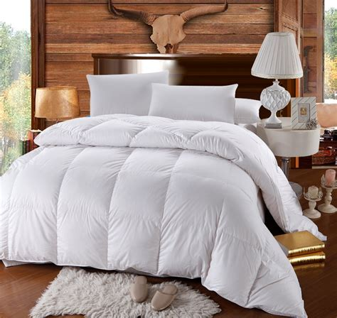 Goose Comforter by Luxury High Loft 500 Thread Cotton Goose Comforter White Solid Ebay
