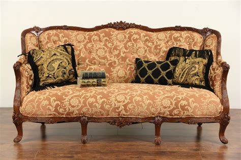 french style  carved vintage sofa  upholstery ebay