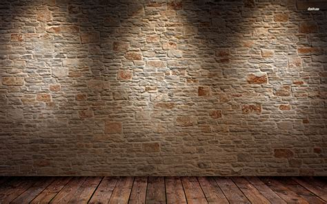old wood wall brick wall and wood floor hd wallpaper 1 abstract