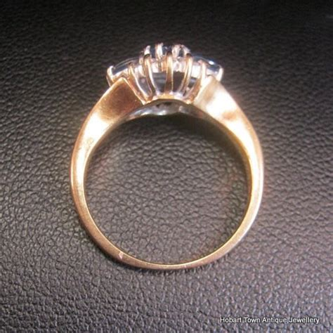attractive vintage sapphire 1ctw gold uk ring