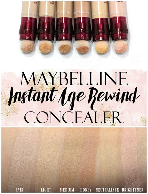 Maybelline Instant Age Rewind Shade Light maybelline instant age rewind concealer swatches