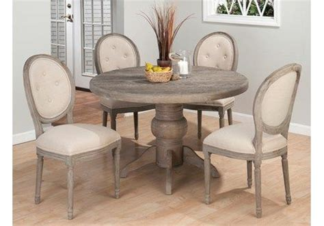 the simple dining room store distressed gray pedestal table