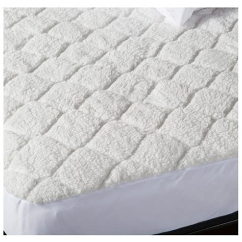 biddeford quilted sherpa electric heated mattress pad