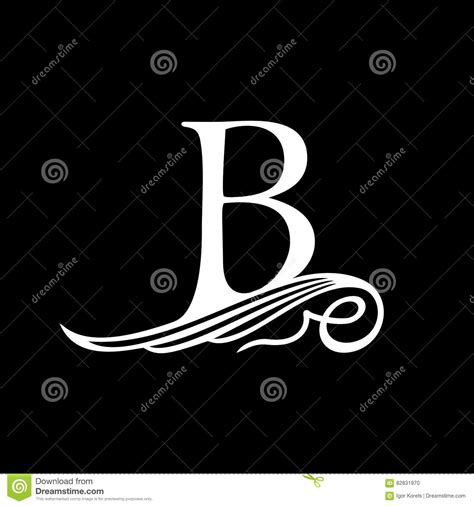 Wedding Emblem Font by Capital Letter B For Monograms Emblems And Logos