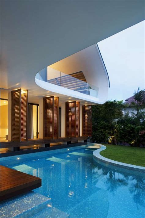 modern home design with pool outdoor pool of magnificent and ultra modern house half