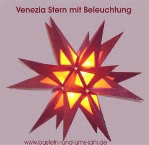 sterne mit beleuchtung basteln rund ums jahr venezia mit beleuchtung