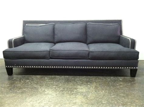 sofa dream meaning custom blue sofa with nailhead trim we can custom build