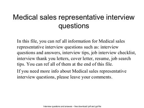 sales representative questions