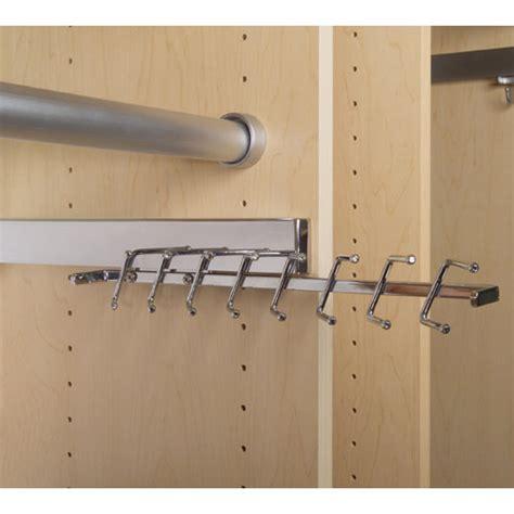 Closet Belt Rack by Deluxe Sliding Tie Rack Chrome In Tie And Belt Racks
