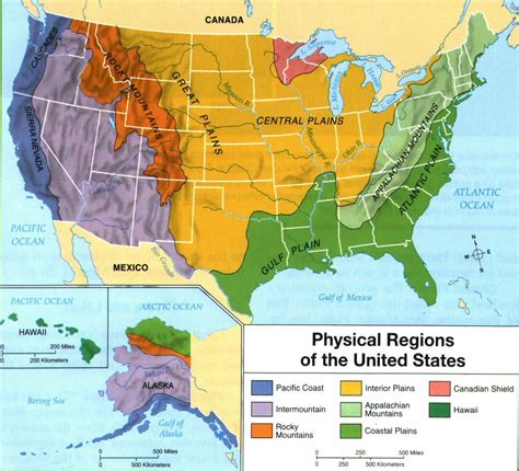 map of the united states geographical great plain and central plain the high plains you know