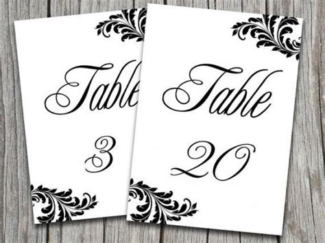 Table Number Templates For Word Victorian Wedding Victorian Wedding Table Number Template 2048333 Weddbook