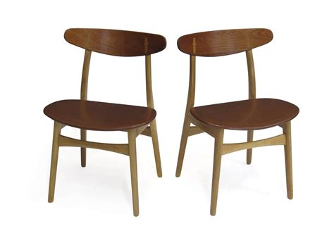 Hans Wegner Dining Chairs with Six Hans Wegner Ch30 Dining Chairs At 1stdibs