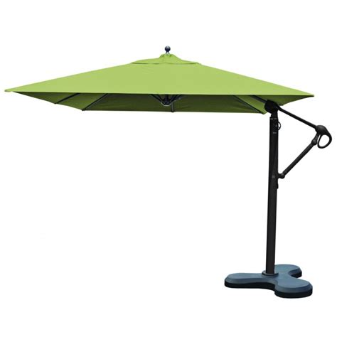 Cantilever Patio Umbrella Outdoor Umbrellas 10x10 Square Galtech Cantilever Patio Umbrella W Base