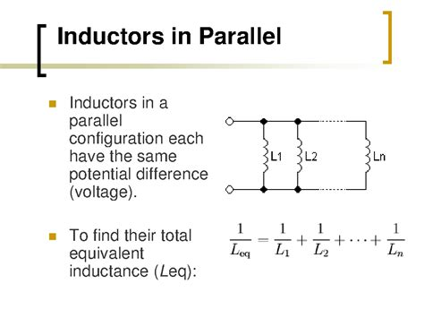 what is the formula for inductors in series electrical circuits tel tej m1