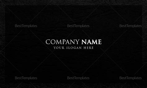 black business card template microsoft word black business card design template in word psd publisher