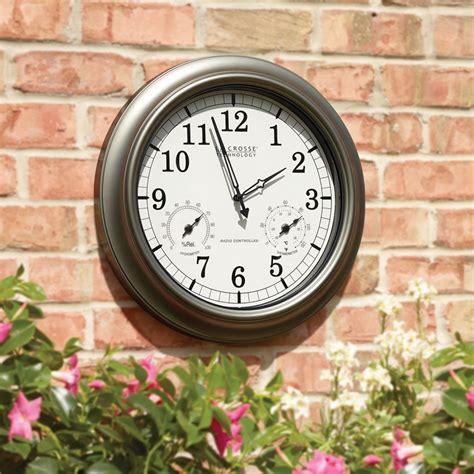 the always accurate outdoor clock hammacher schlemmer