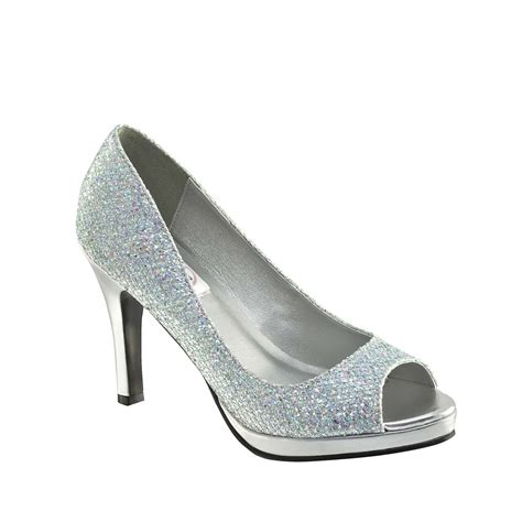 sari shoes by dyeables in chagne silver black 5 11