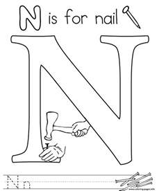 colors that start with the letter n words of letter n free alphabet s179e coloring pages printable