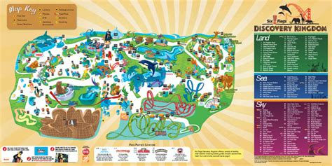 six flags vallejo map six flags dicscovery kingdom park map