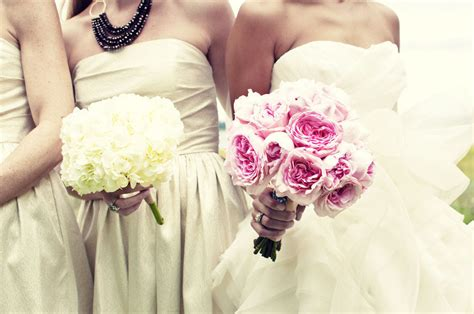 light pink and ivory wedding bouquets monochromatic pink bridal bouquet ivory light green