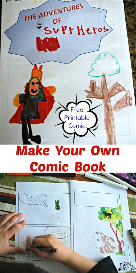 How To Make A Comic Book Out Of Paper - make your own comic book free printable comic mess for