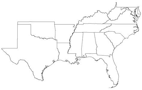 map of usa southern states map of the us southern states us map fill in