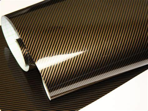 Carbon Folie Verkleben by 2d Carbonfolie Gold 152 Cm X 12 Meter Blasenfrei Mit