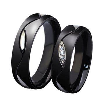 titanium steel black finger ring