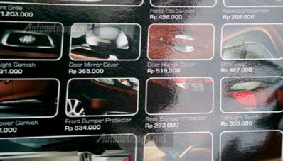 Paket Filter Ac Filter Kabin Hijau Cover Mobilio Brio Brv ini nih paket aksesoris honda mobilio modulo