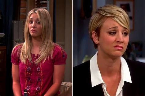 puctures of penny new hair cut bigvbang theroy penny on the big bang theory 20 haircuts that changed