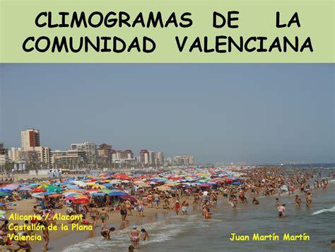 valencia y comunidad valenciana 8497760484 blog de did 225 ctica de la geograf 237 a de juan mart 237 n mart 237 n climogramas de la comunidad valenciana