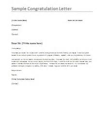 sle congratulations letter formsword word templates