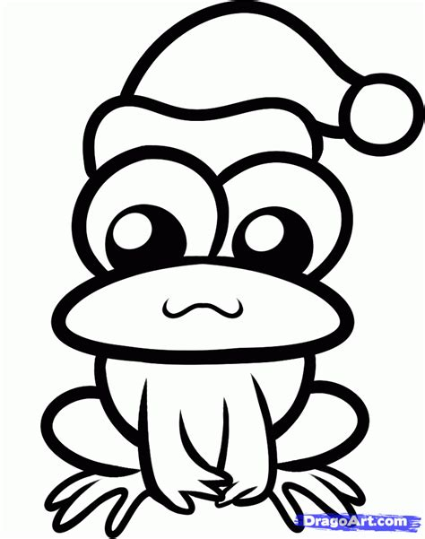 christmas frog coloring page how to draw a christmas frog step by step christmas