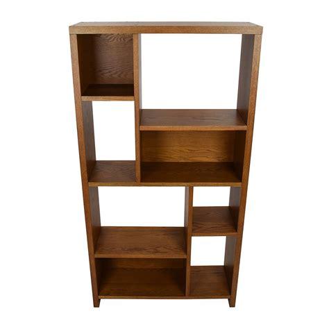 west elm shelving unit 33 crate barrel wood leaning bookshelf bar storage