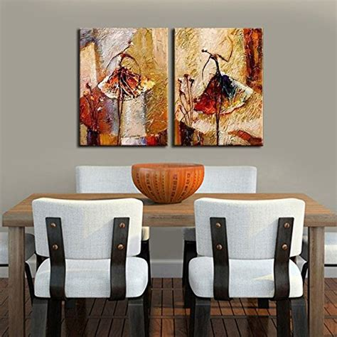 Home Artwork Decor Wieco Ballet Dancers 2 Modern Decorative Artwork 100 Painted Contemporary