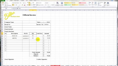design invoice in excel create an invoice in excel invoice design inspiration
