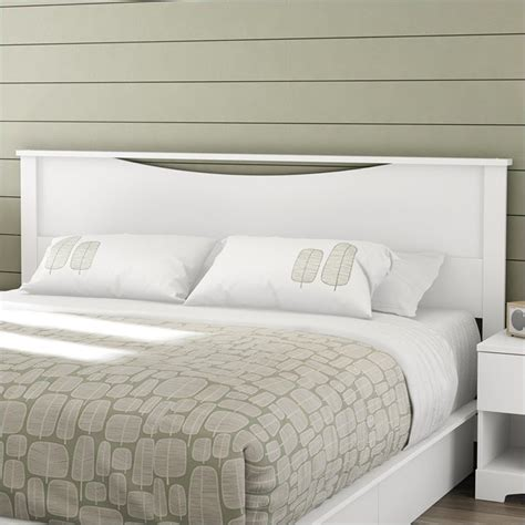south shore step one king panal headboard in white 3160290