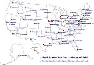 us map with cities united states tax court places of trial