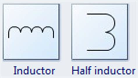 standard symbol for inductor standard circuit symbols for circuit schematic diagrams