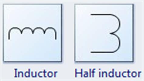 standard inductor symbol standard circuit symbols for circuit schematic diagrams