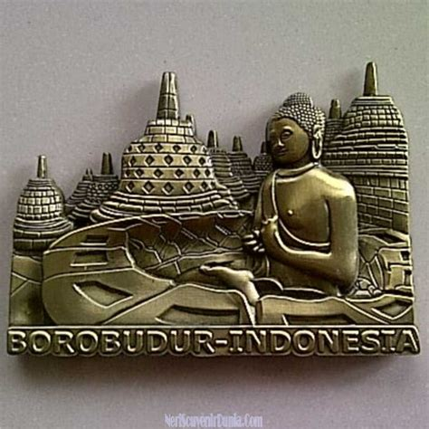 Magnet Tempelan Kulkas Indonesia jual souvenir magnet kulkas borobudur metal