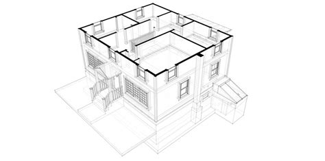 Building Plans For House drafting architecture line on paper