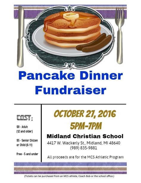 Midland Christian School Midland Mi Christian School Pancake Fundraiser Flyer Template
