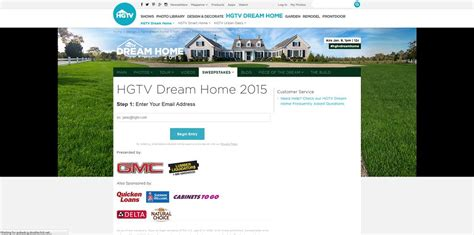 Www Hgtv Com Dream Home Sweepstakes Entry - hgtv dream home giveaway entry form