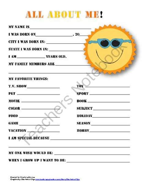 printable questionnaire for students star student behavior pinterest star students