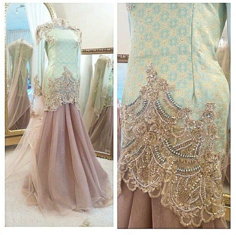 design gaun songket baju pengantin songket terbaru 2015 wedding dress